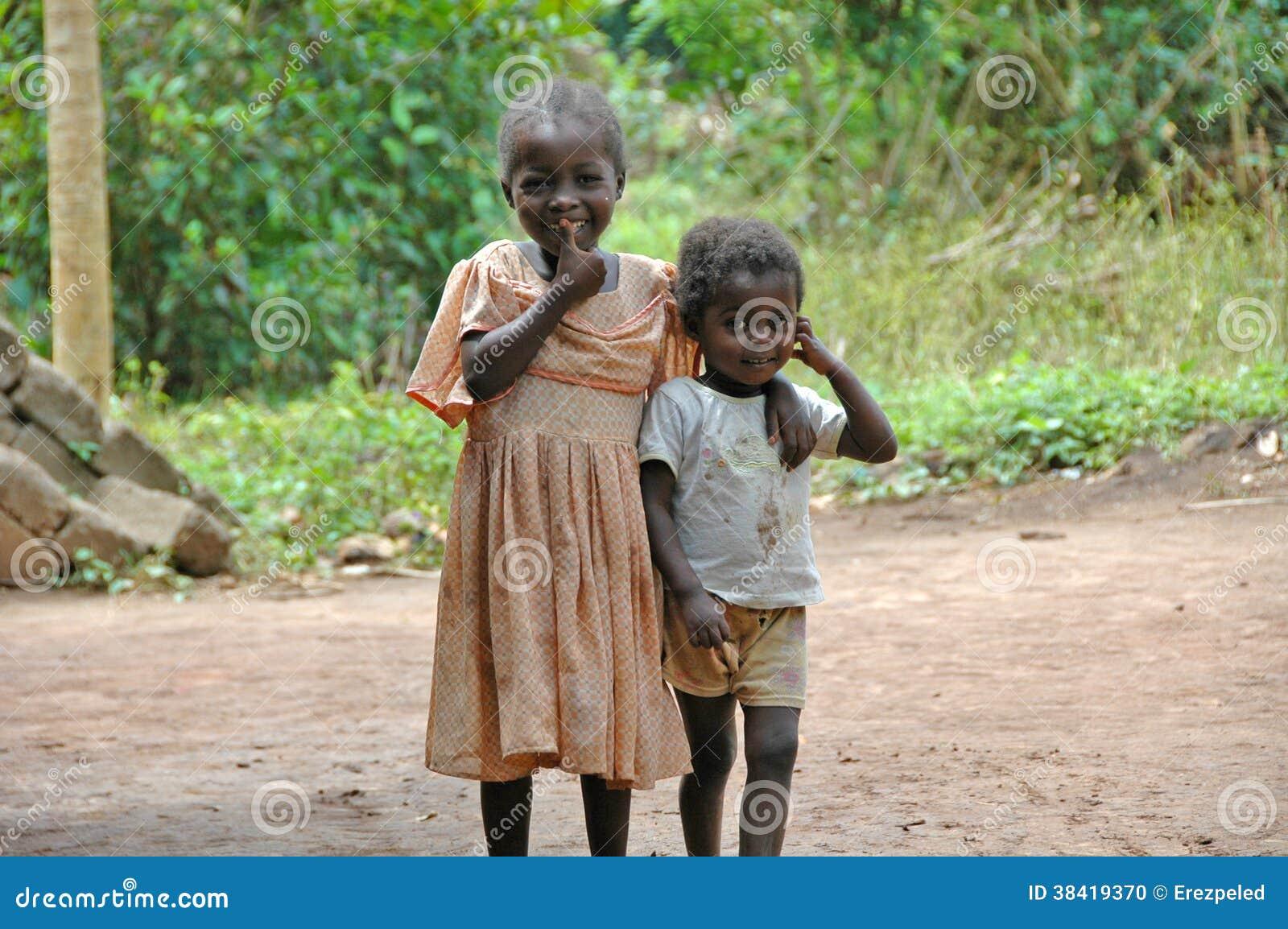 Bambini sorridenti in Africa