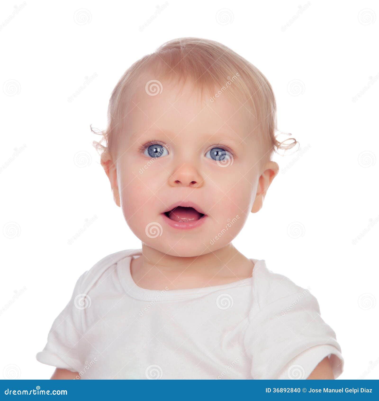 Download Bambino Biondo Adorabile Nel Sorridere Della Biancheria Intima Fotografia Stock - Immagine di background, felice: 36892840
