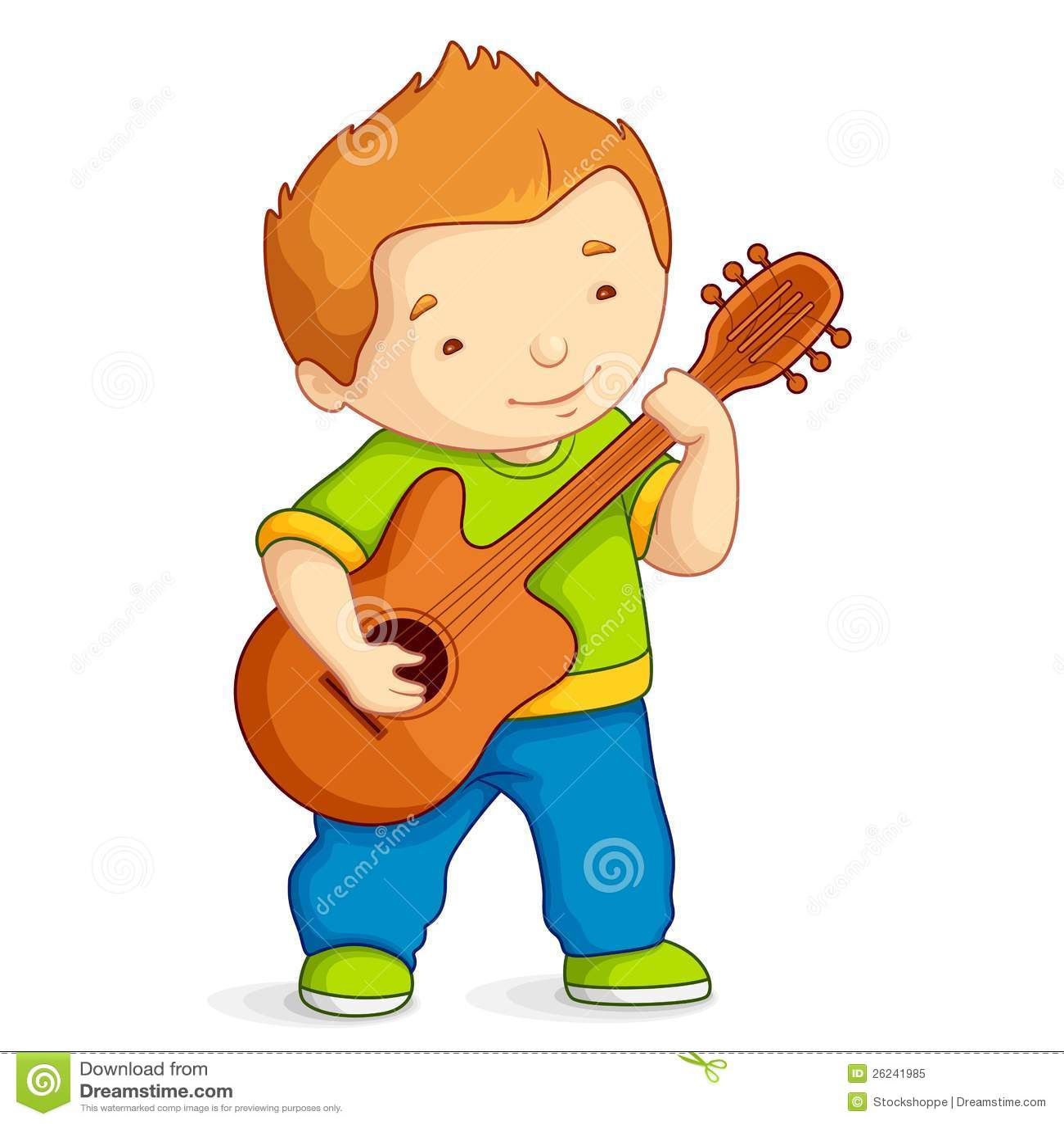 Bambino che gioca chitarra illustrazione vettoriale for Konzentrationsschw che kind