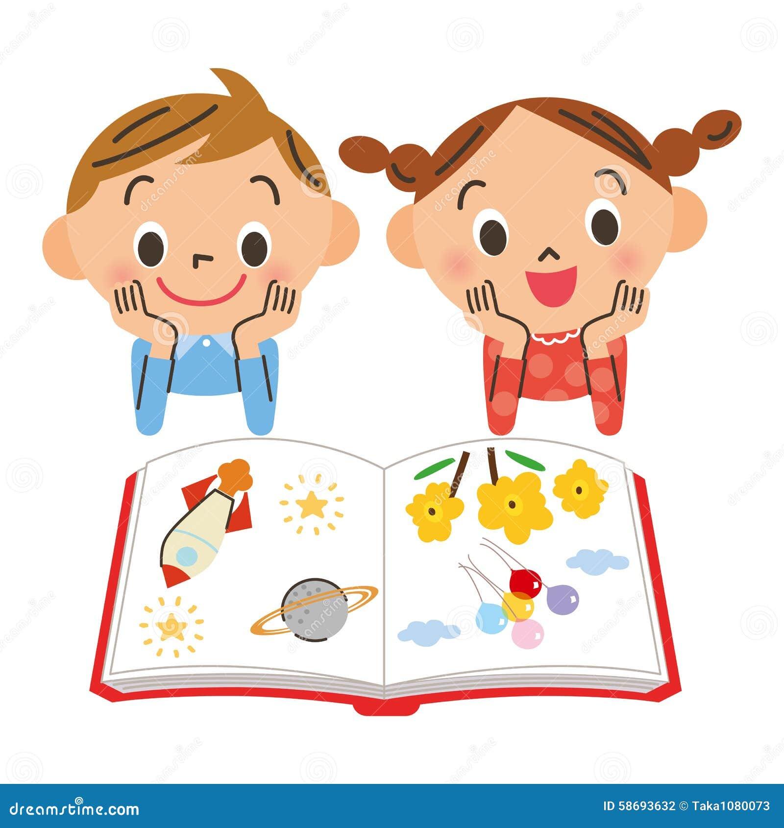 bambino che legge un libro illustrazione vettoriale illustrazione di sorriso 58693632. Black Bedroom Furniture Sets. Home Design Ideas