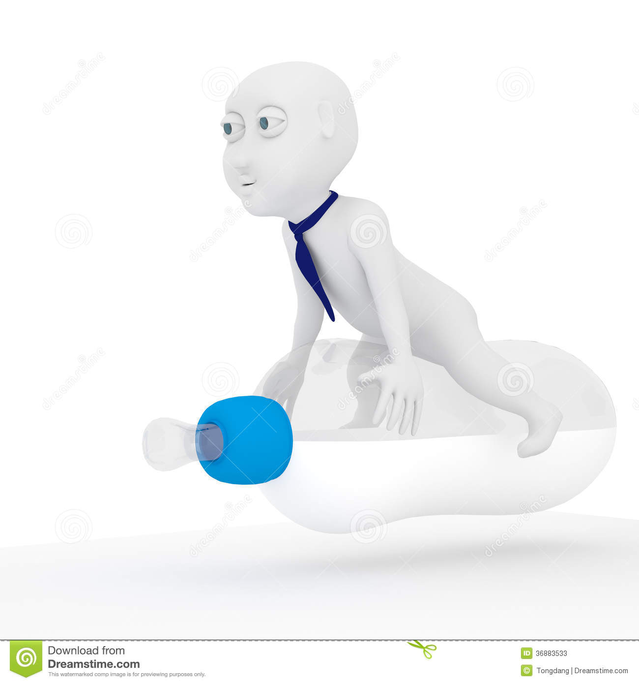 Download Bambino 3d. illustrazione di stock. Illustrazione di sport - 36883533