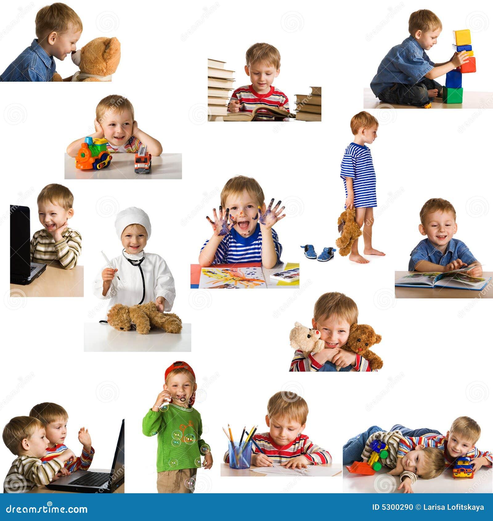 Download Bambino di gioco stabilito fotografia stock. Immagine di infanzia - 5300290