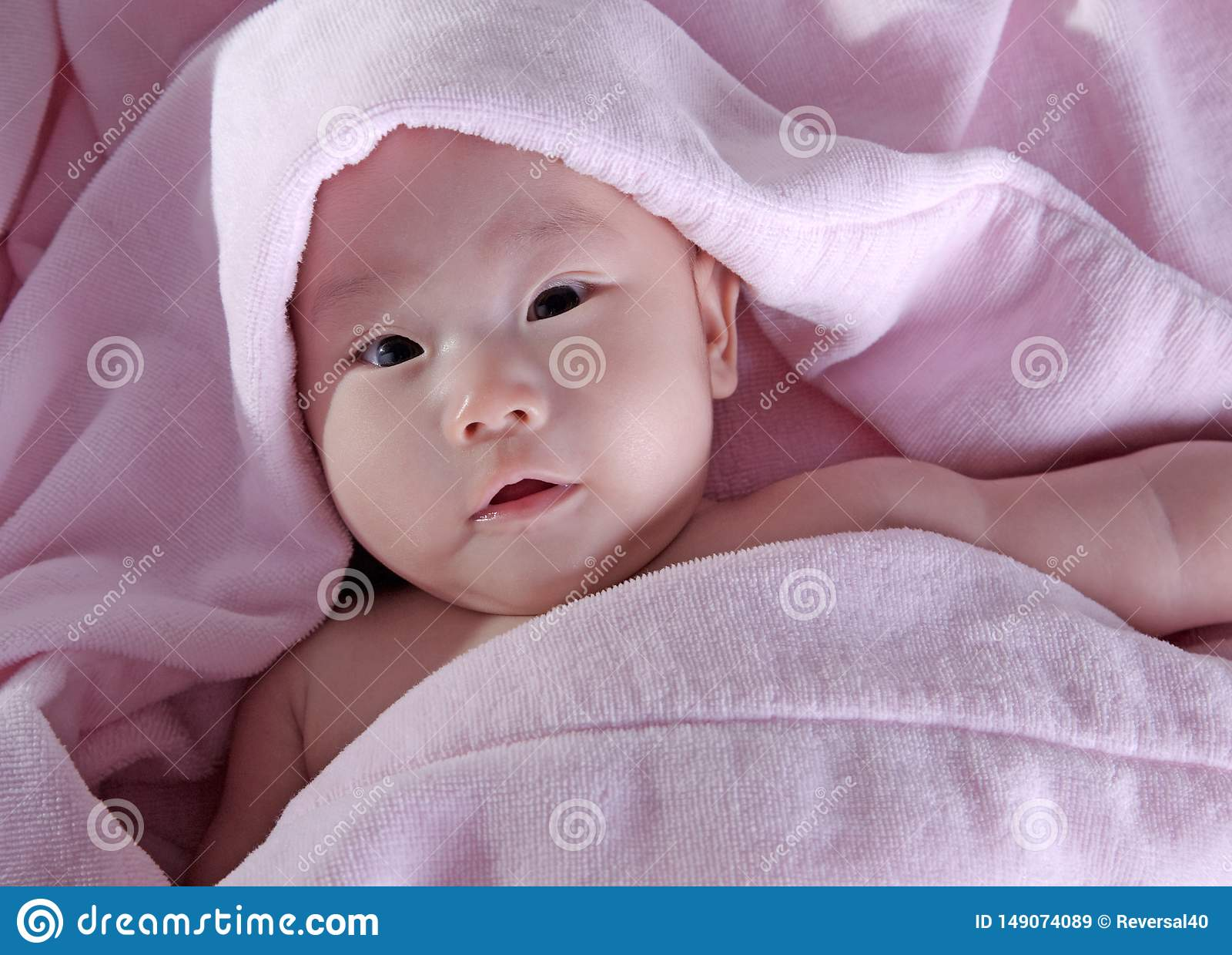 Bambino dopo il bagno