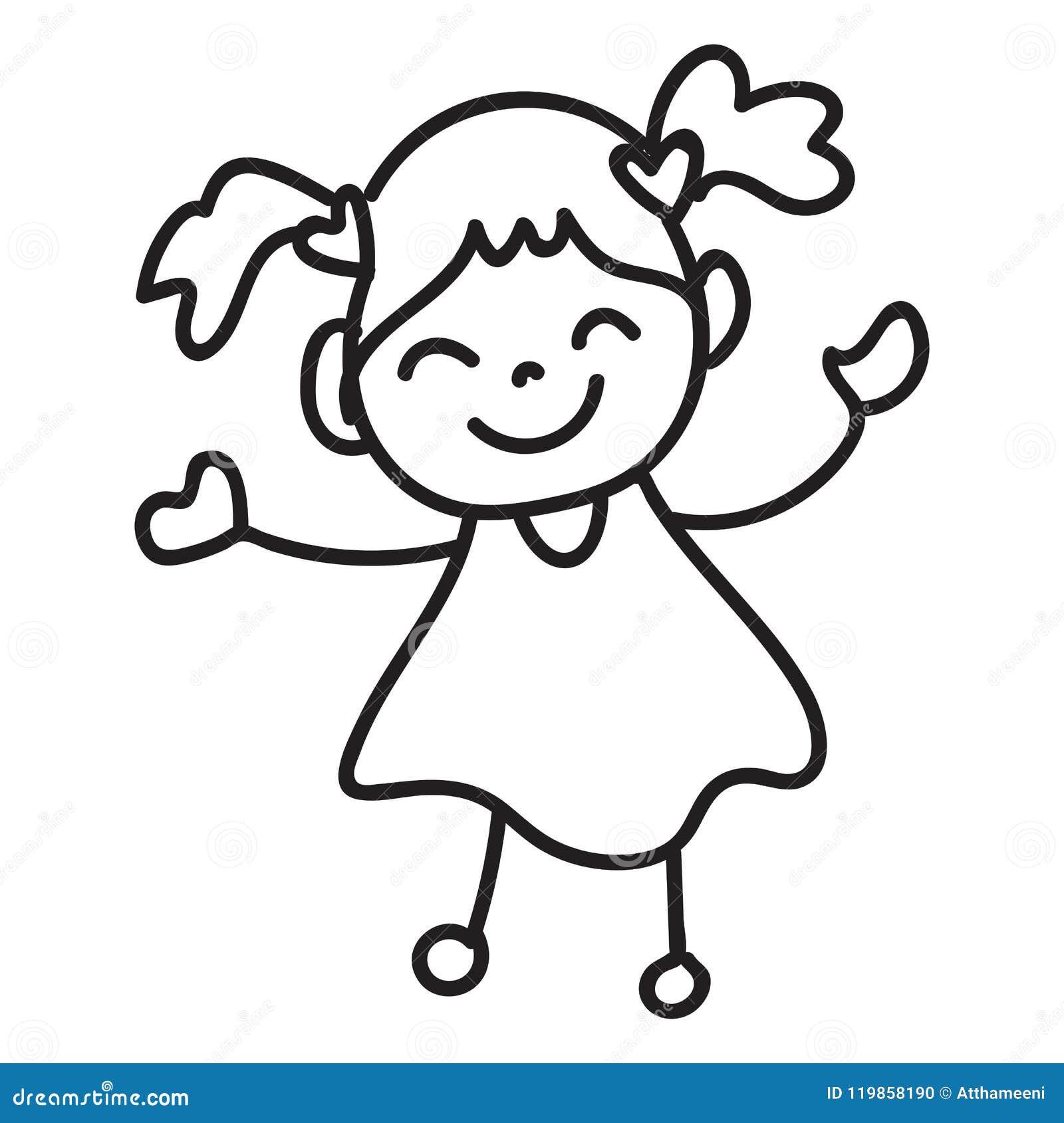 Bambino Felice Del Personaggio Dei Cartoni Animati Del Disegno Della