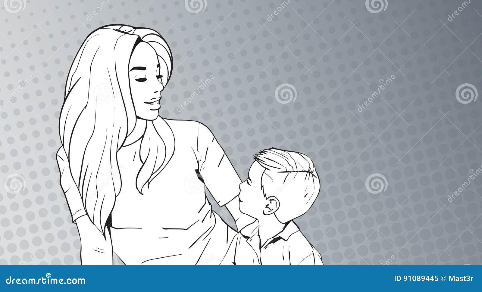 Mamma schizza su figlio