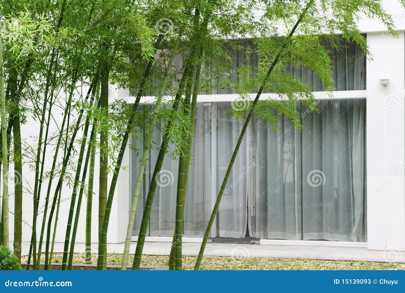Bamboe en huis stock afbeelding afbeelding bestaande uit schoonheid 15139093 - Tuin decoratie buitenkant ...