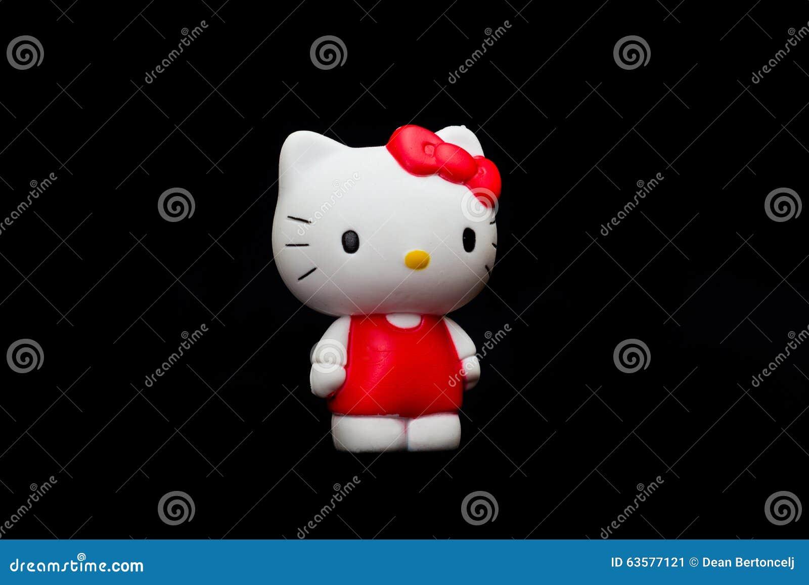 Bambola di hello kitty fotografia editoriale. immagine di fictional