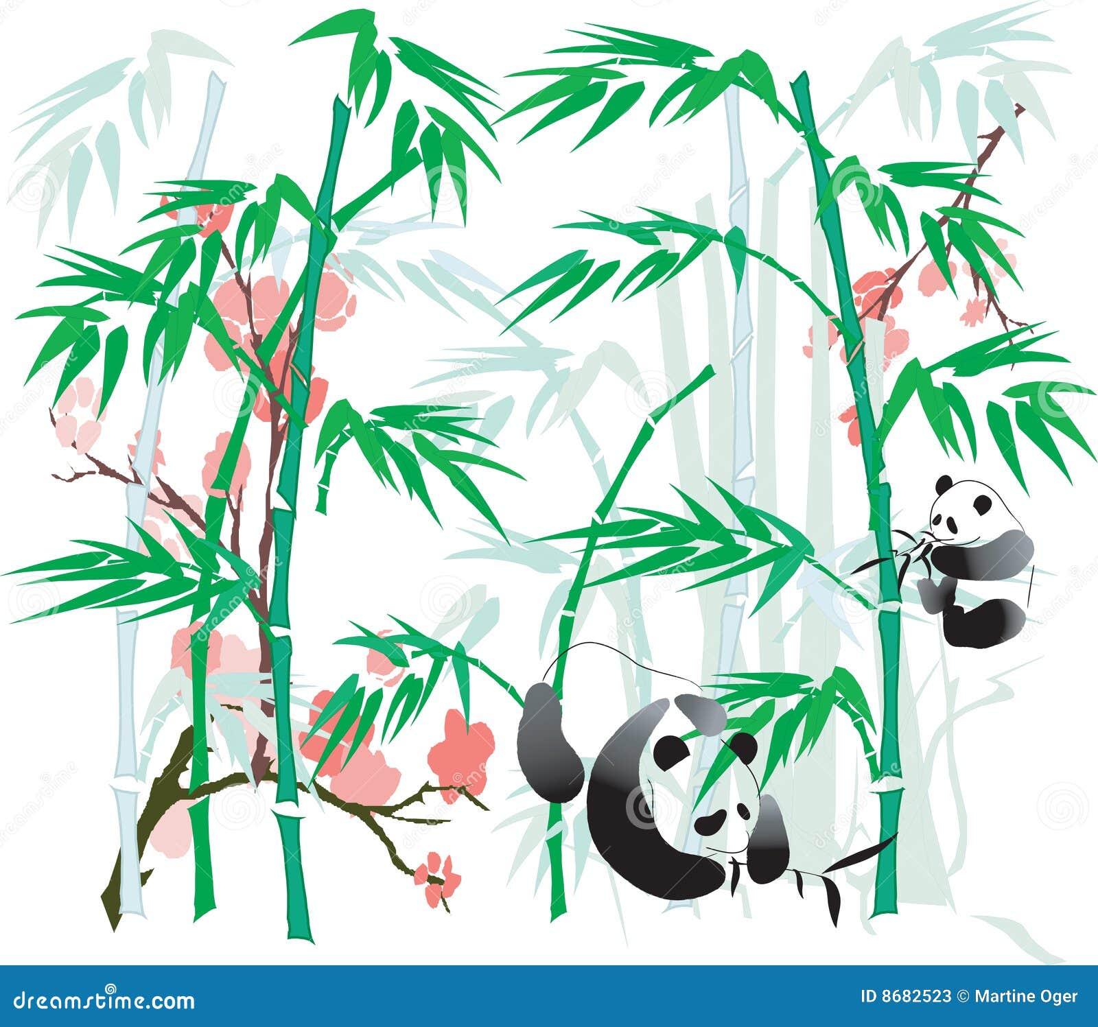 Bamboo панда иллюстрации