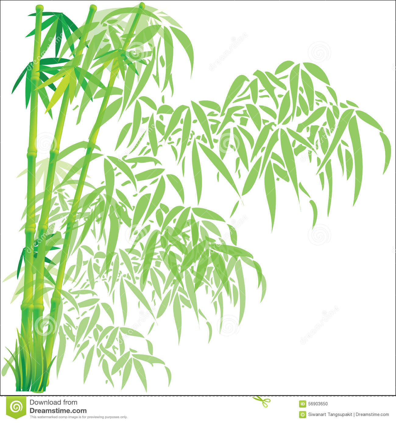 Bamboo Background Vector Illustration Stock Vector Image