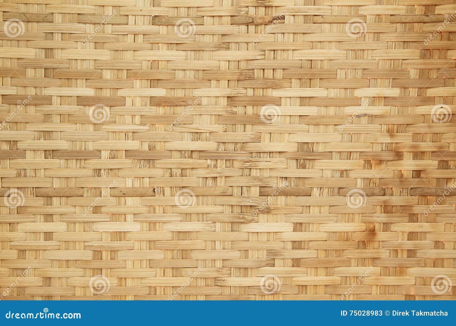 Basket weave brick pattern - Bamboo Basket Weave Pattern Stock Photo