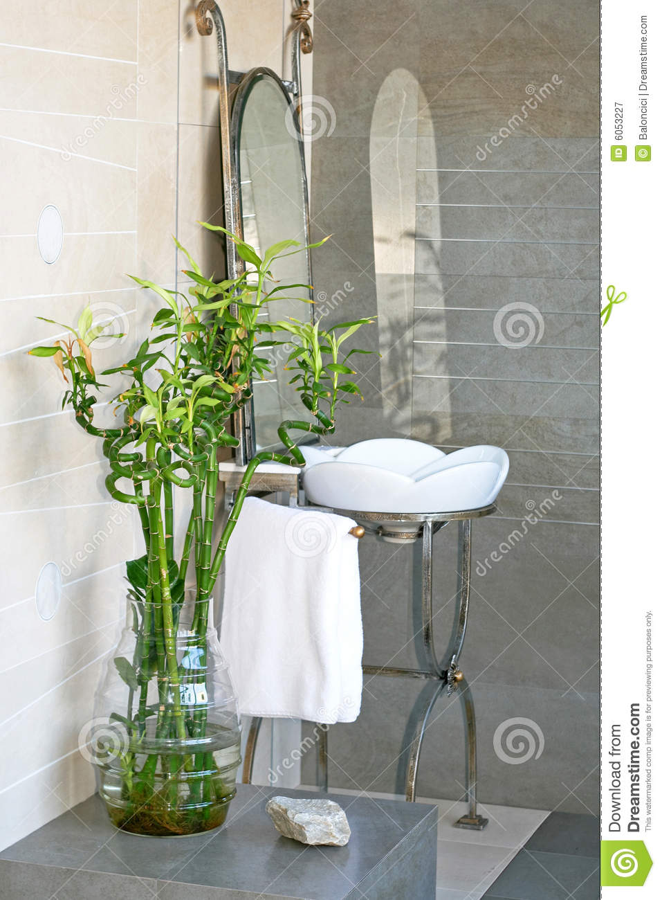 Bamboo bathroom royalty free stock photography image - Piante da bagno ...