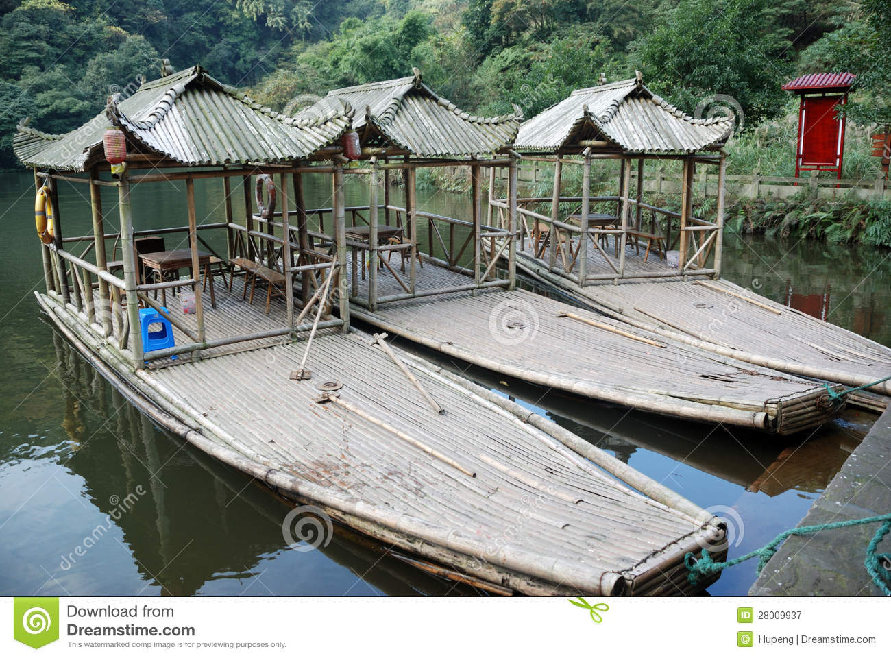Bamboo boats stock image. Image of culture, garden, beech - 28009937
