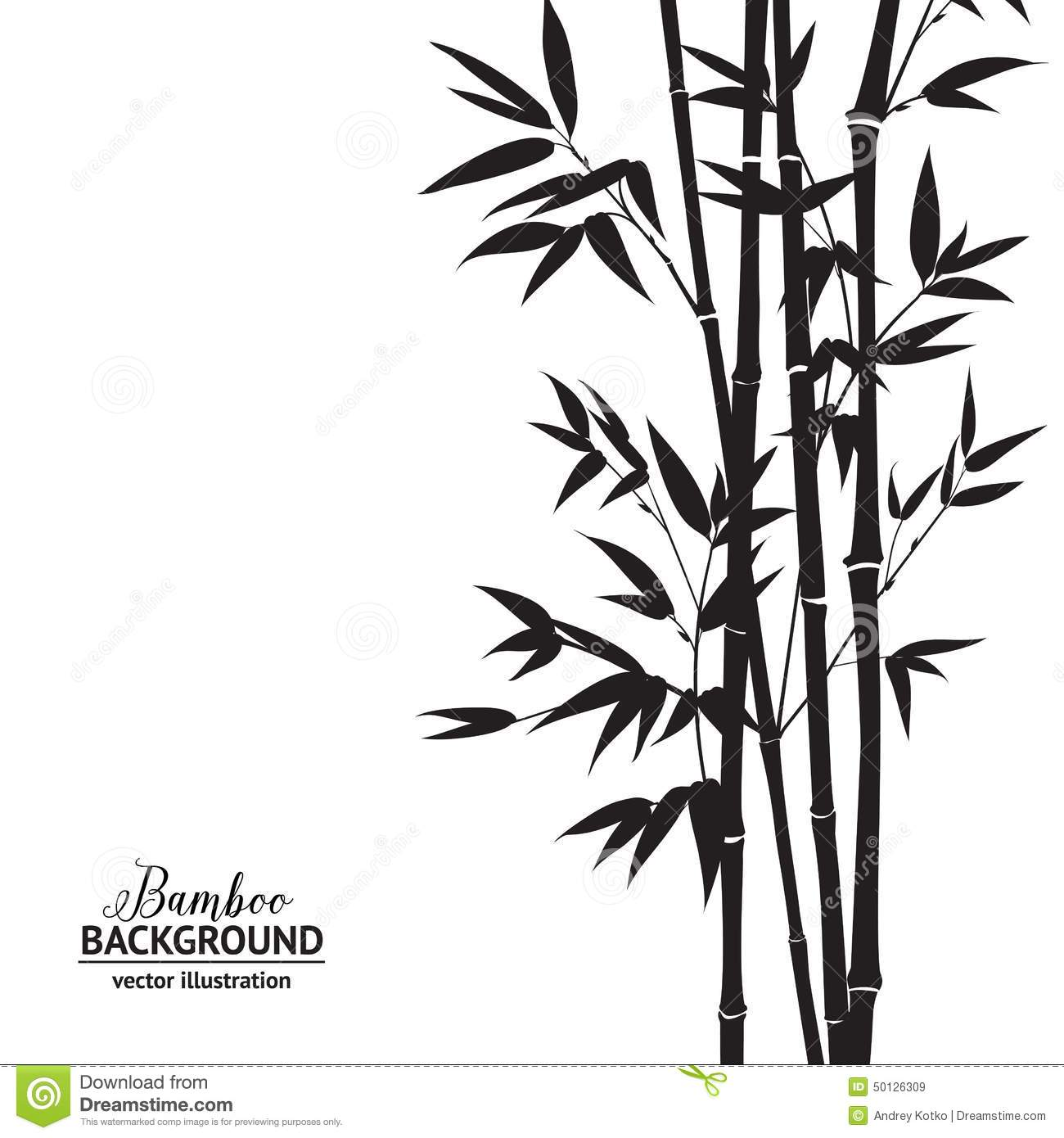 Bamboo bush stock vector. Image of bird, flyer, design ...