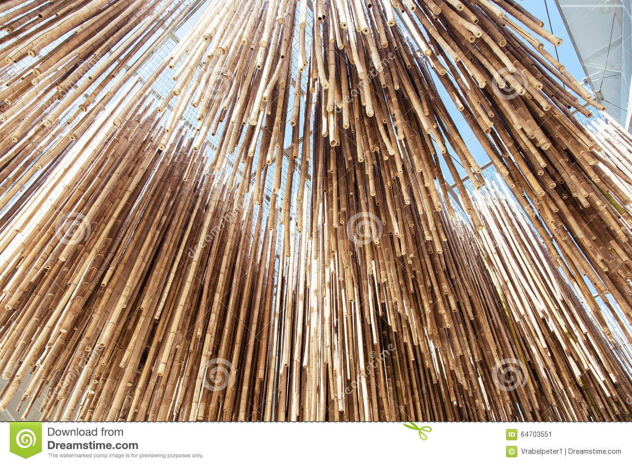 Bamboo decoration hanging from the ceiling architectural for Babou decoration