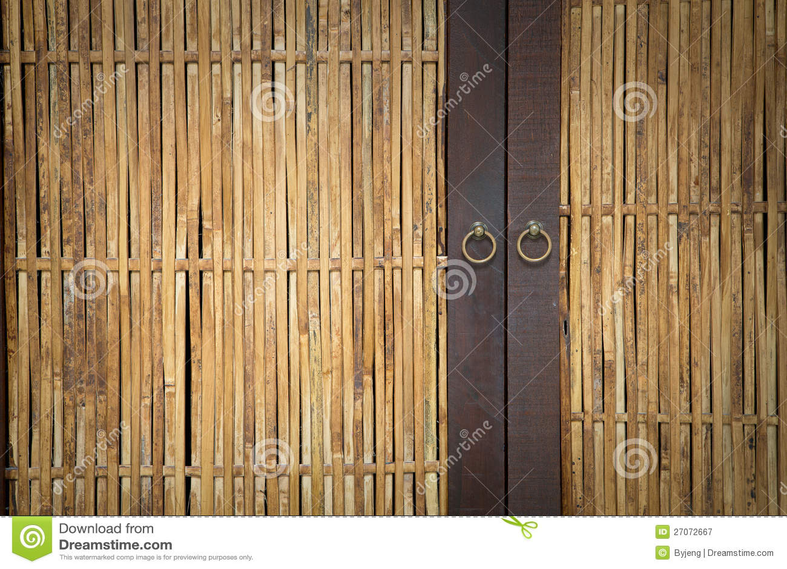 Royalty Free Stock Photo. Download Bamboo Door ...