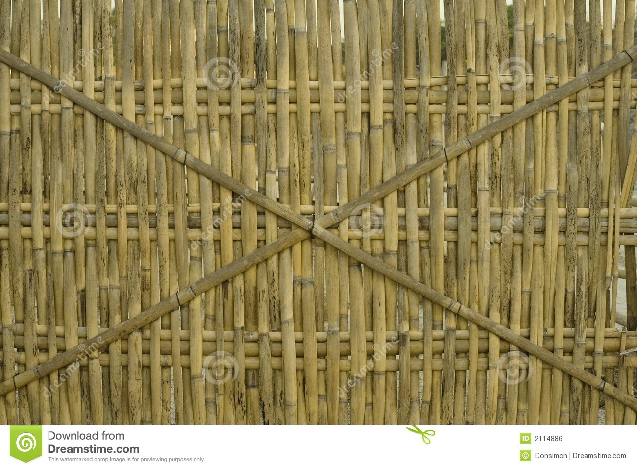 Bamboo Fence Background Philippines Royalty Free Stock