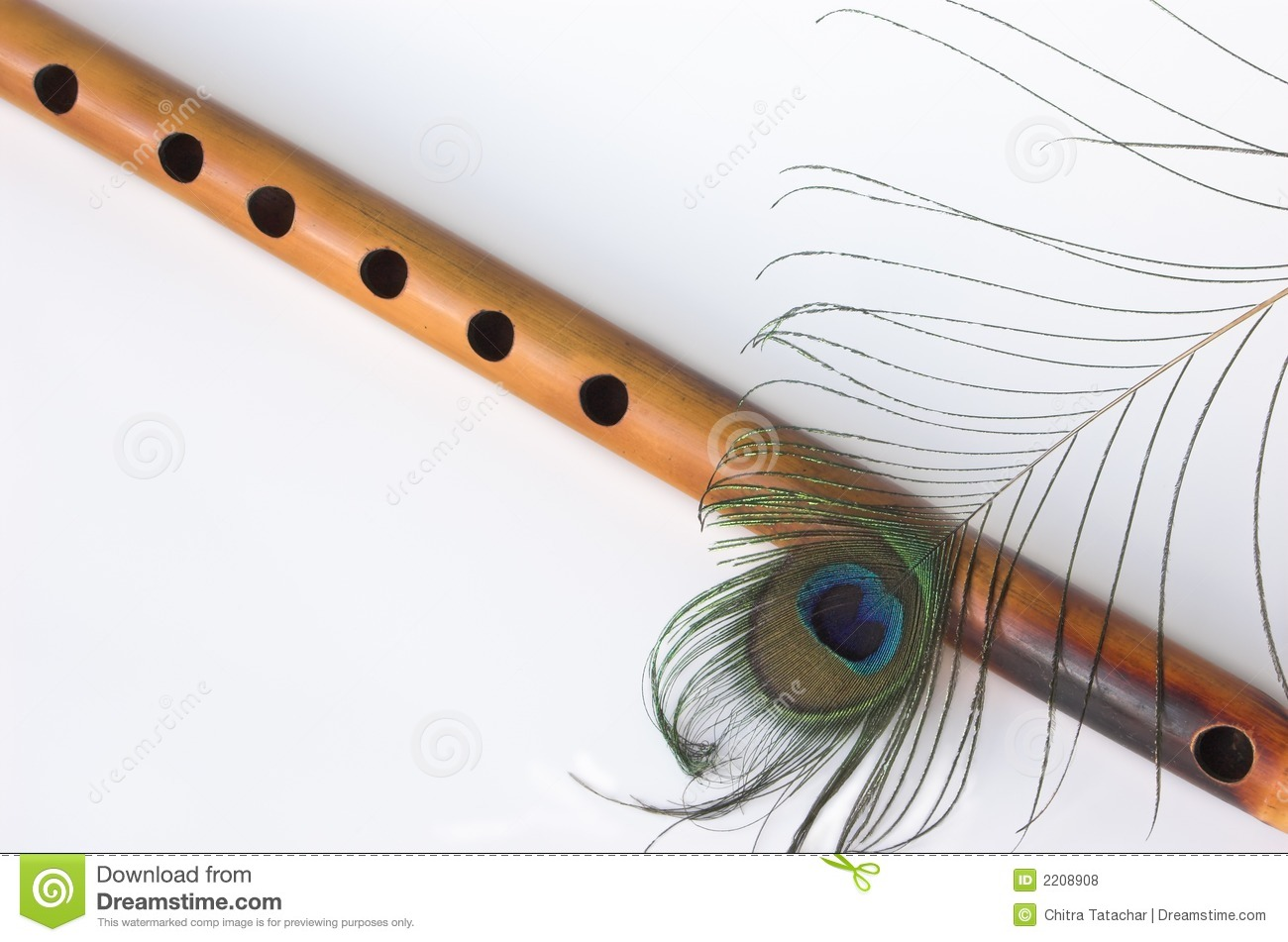 Bamboo flute peacock feather stock photo image of blue bamboo flute peacock feather biocorpaavc Gallery