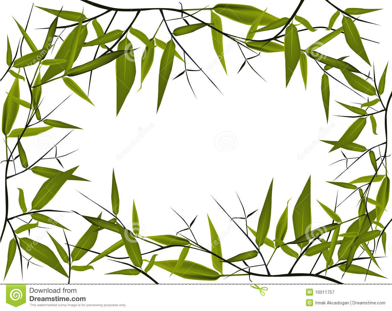 Bamboo Frame Royalty Free Stock Photography - Image: 10011757