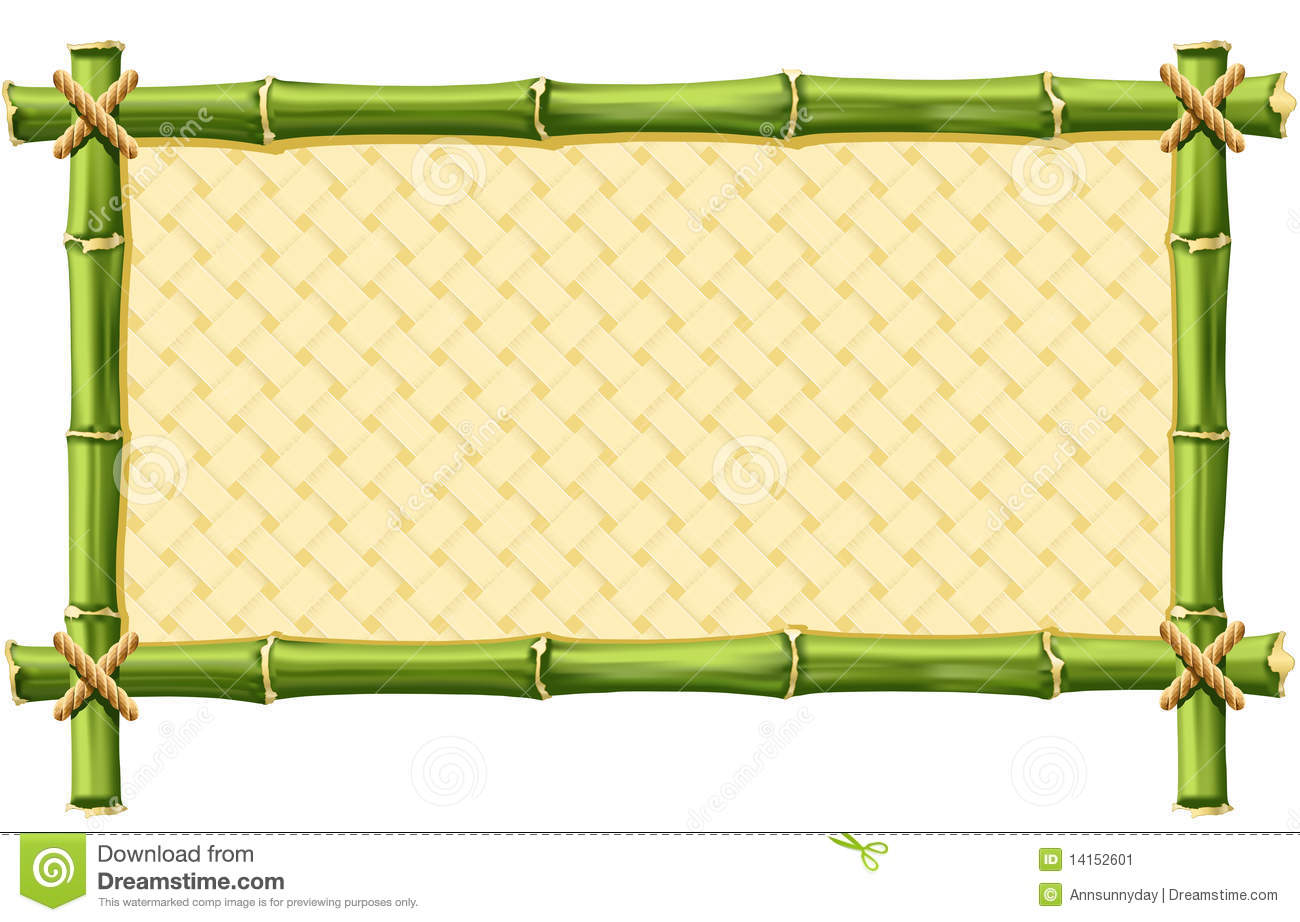 Bamboo Frame Stock Vector Image Of Panel Invitation