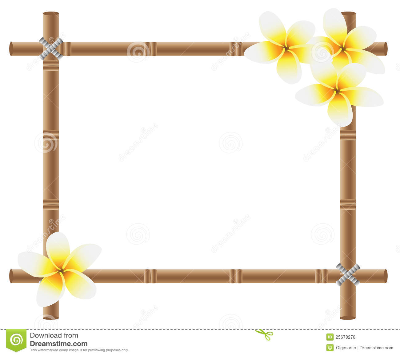 Bamboo Tiki Border Clip Art bamboo frame stock photo - image: 25678270