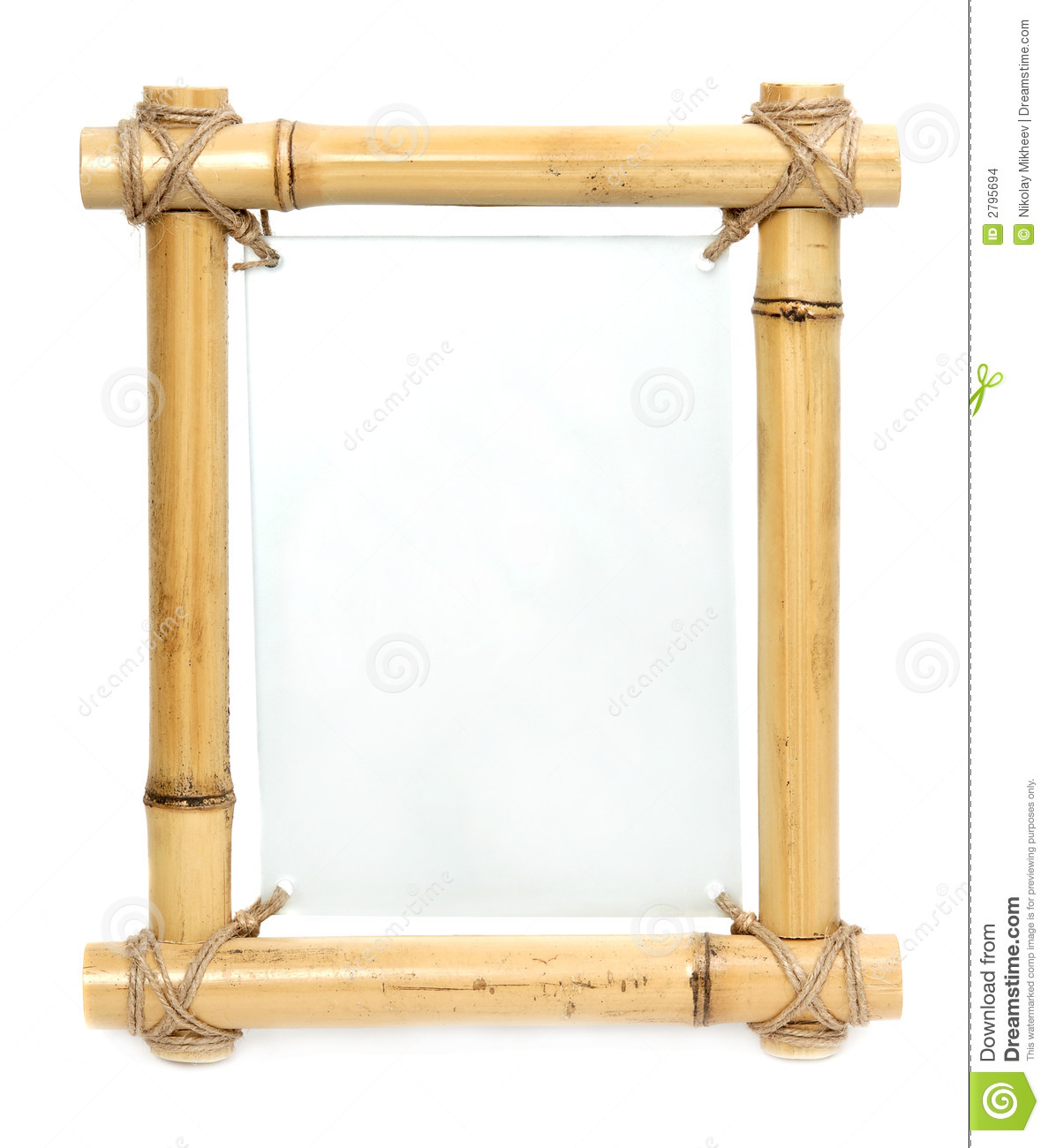 Bamboo Frame Stock Photo Image Of Frame Empty Blank