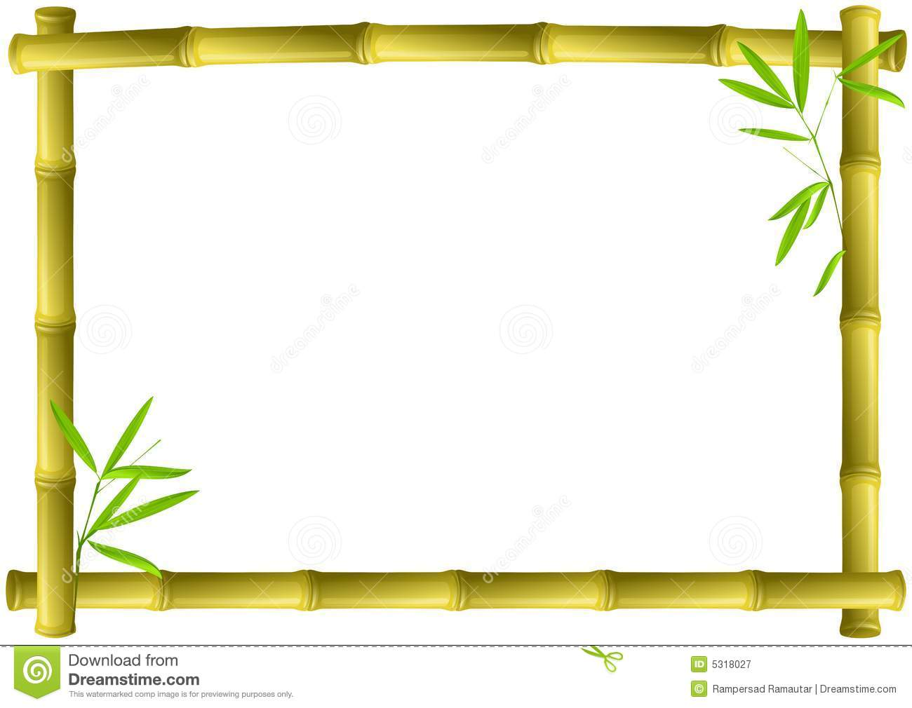 Bamboo Frame Stock Vector Illustration Of Wood Border