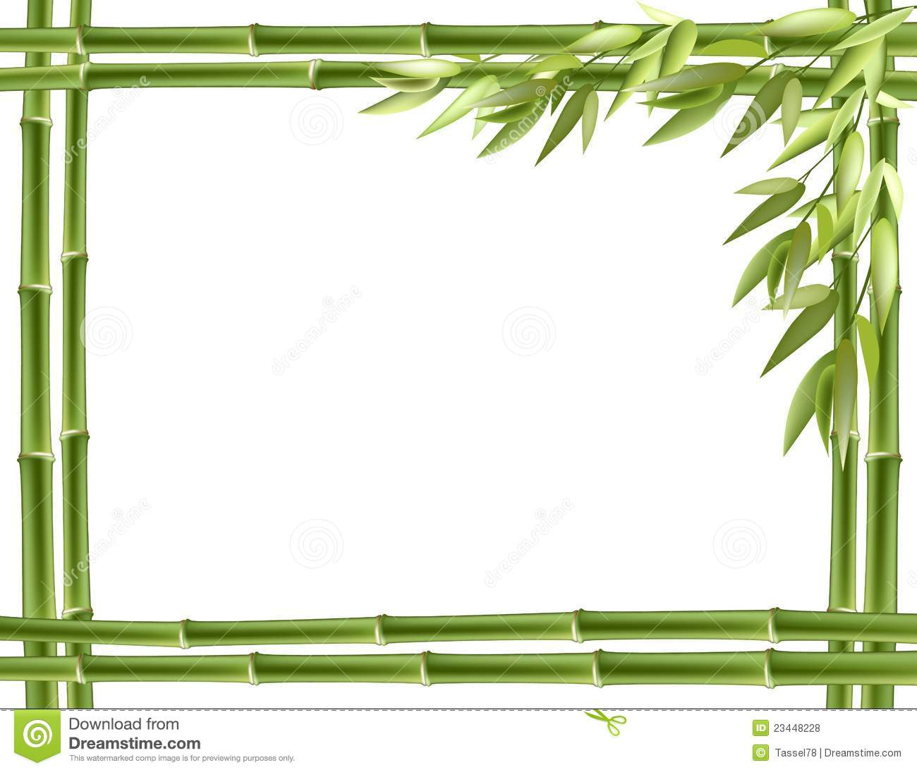 Bamboo Frame. Vector Background Royalty Free Stock Photos - Image ...