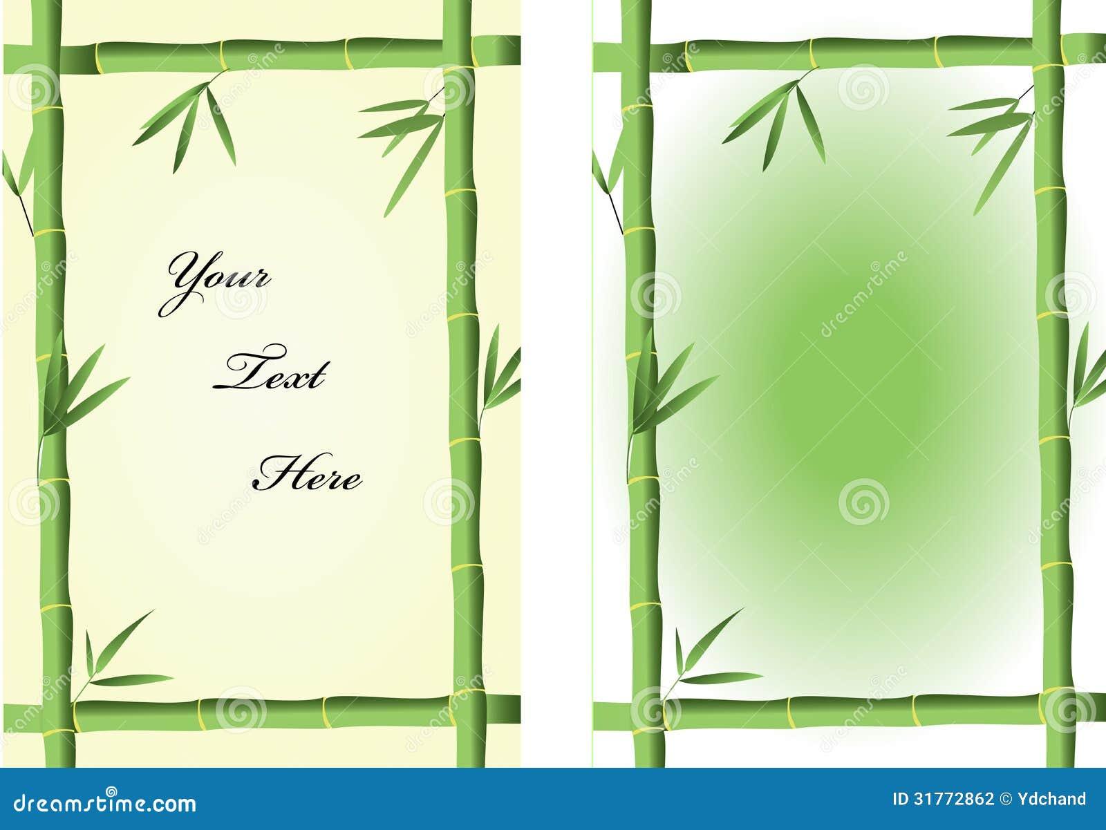 Bamboo Frames Illustration 31772862 - Megapixl