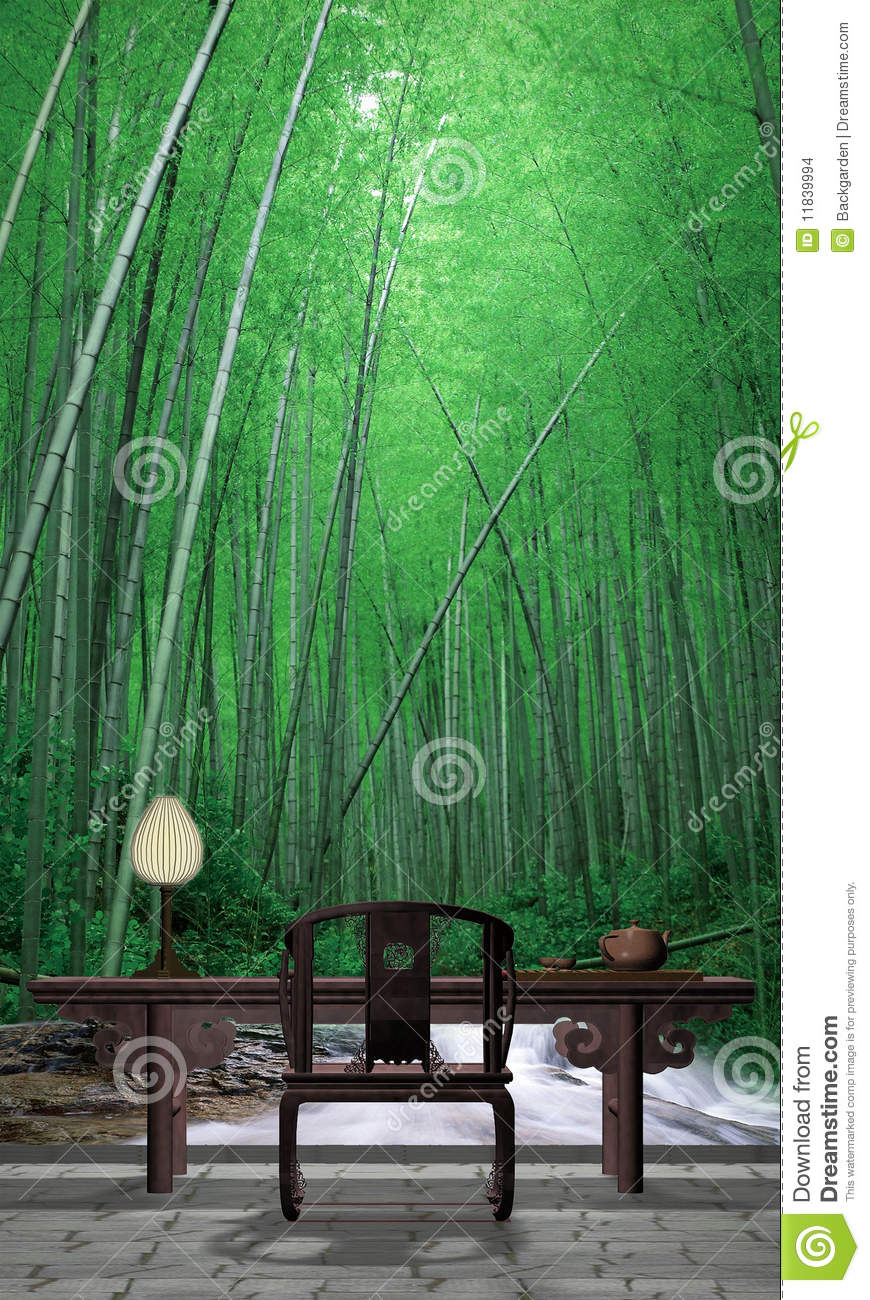 Bamboo Garden Stock Images Image 11839994