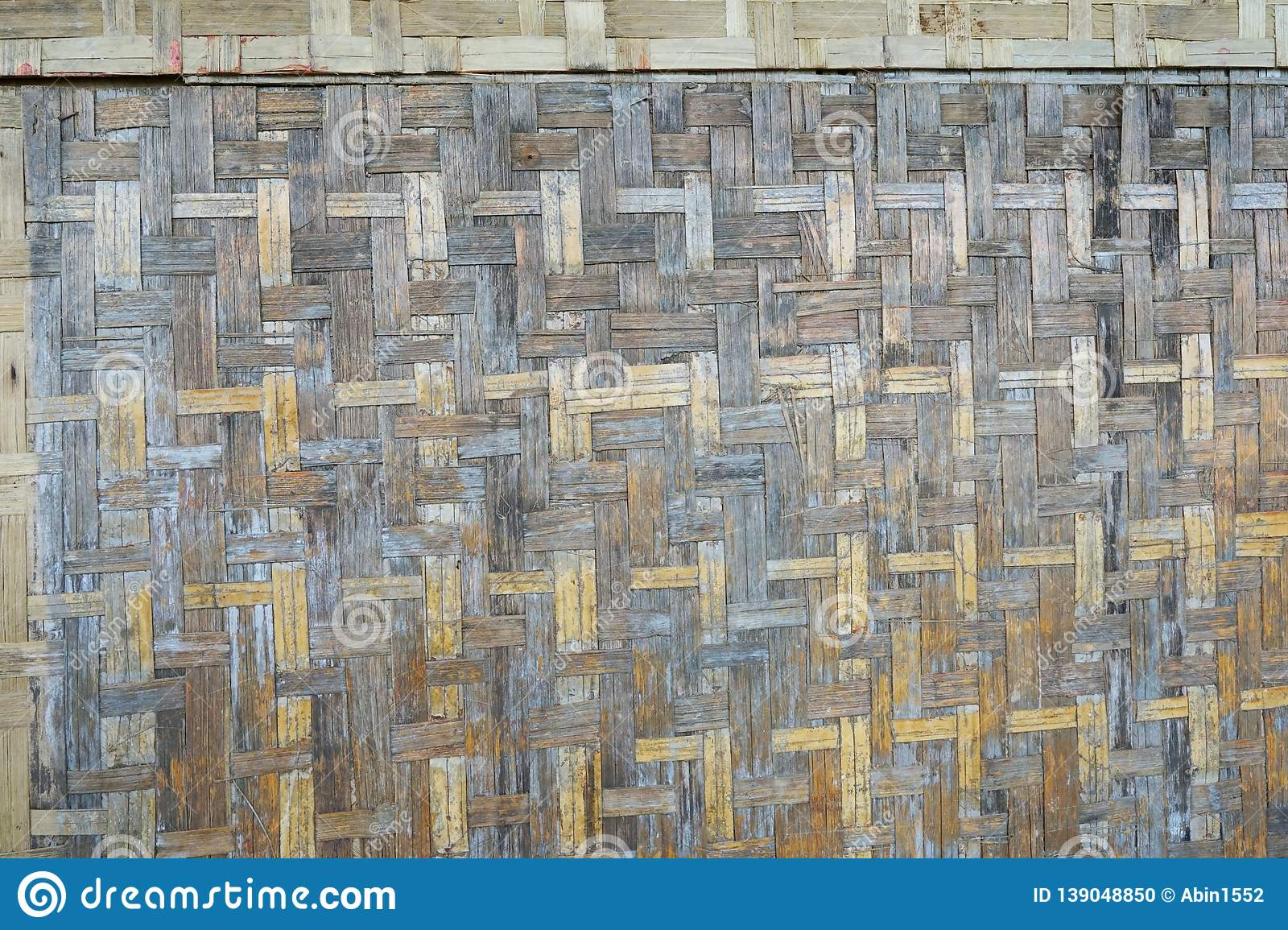 Bamboo handicraft weave are wall as a background