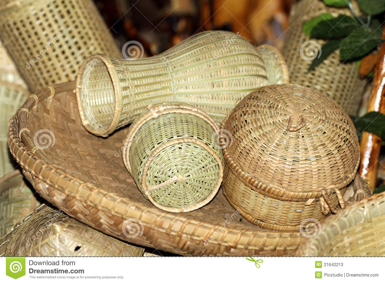 bamboo home items stock image image of still items