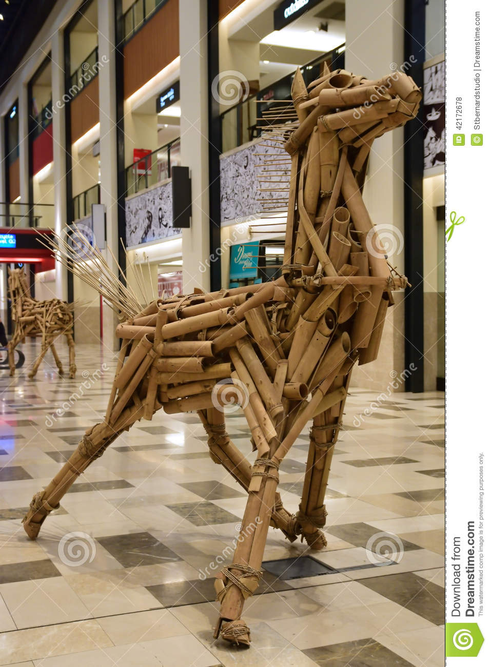 Bamboo Horse Structure Editorial Stock Photo Image 42172678