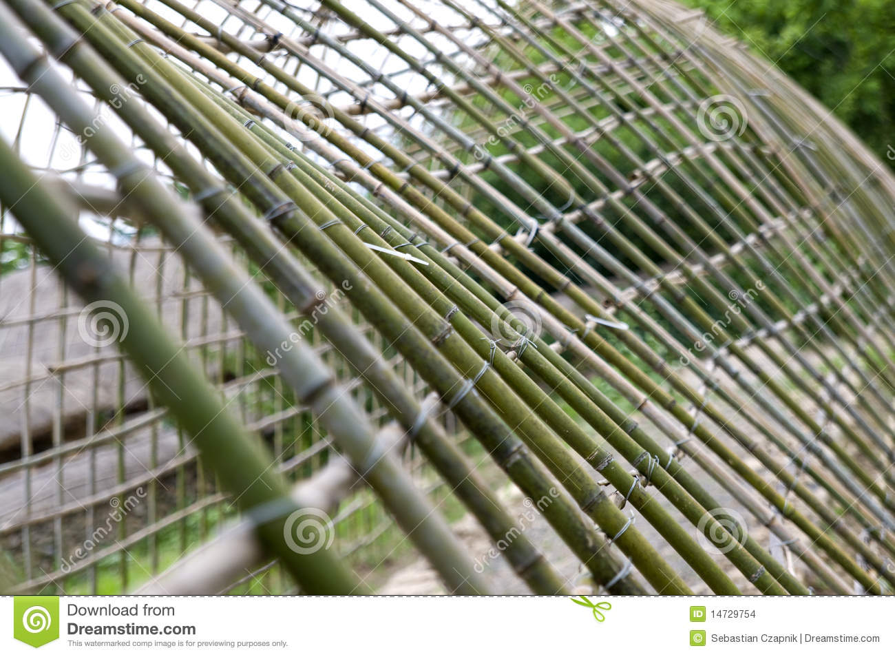 Bamboo hothouse in korea stock images image 14729754 - Serre en bois de palette ...