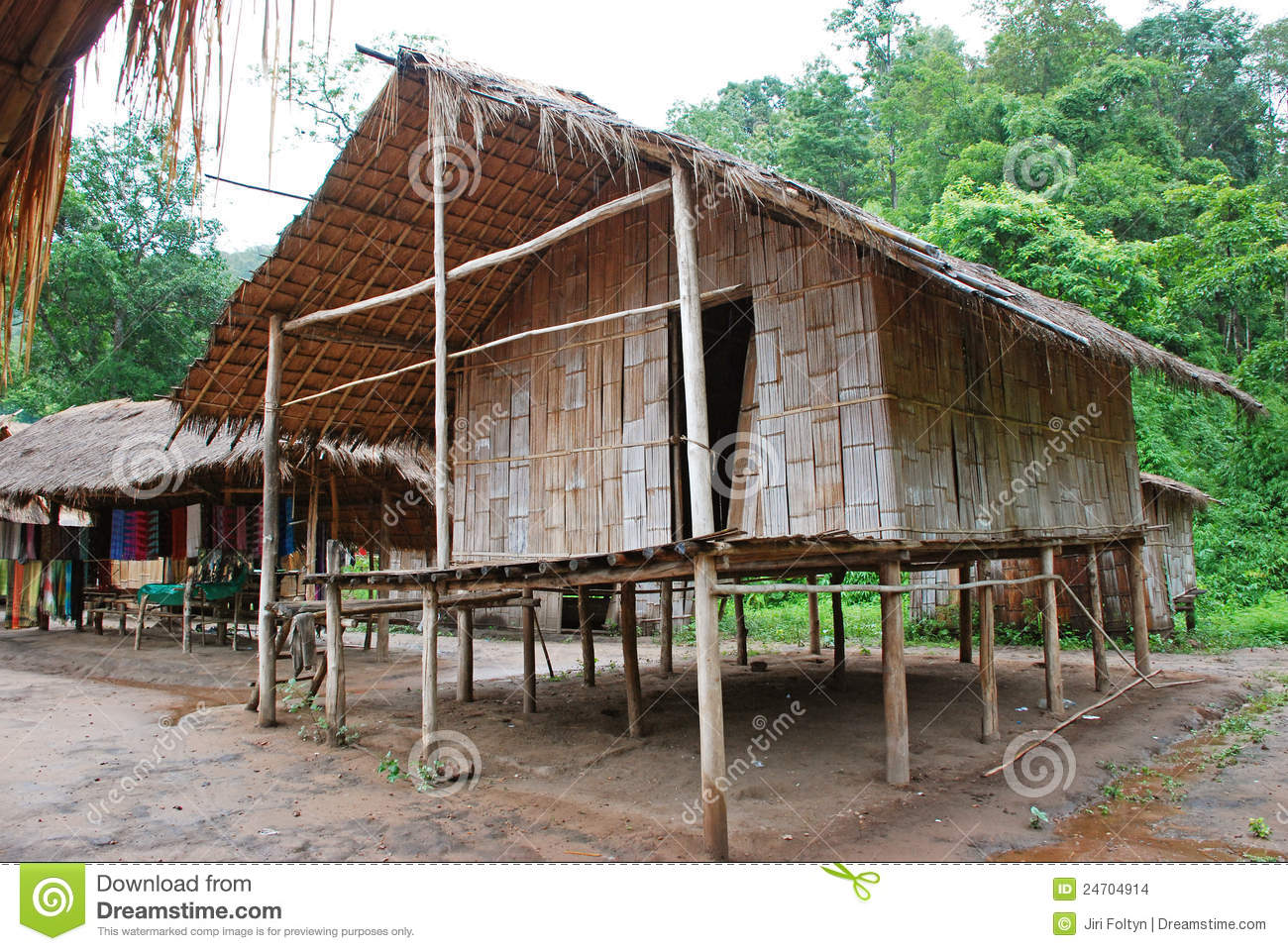 Bamboo House Stock Images Image 24704914