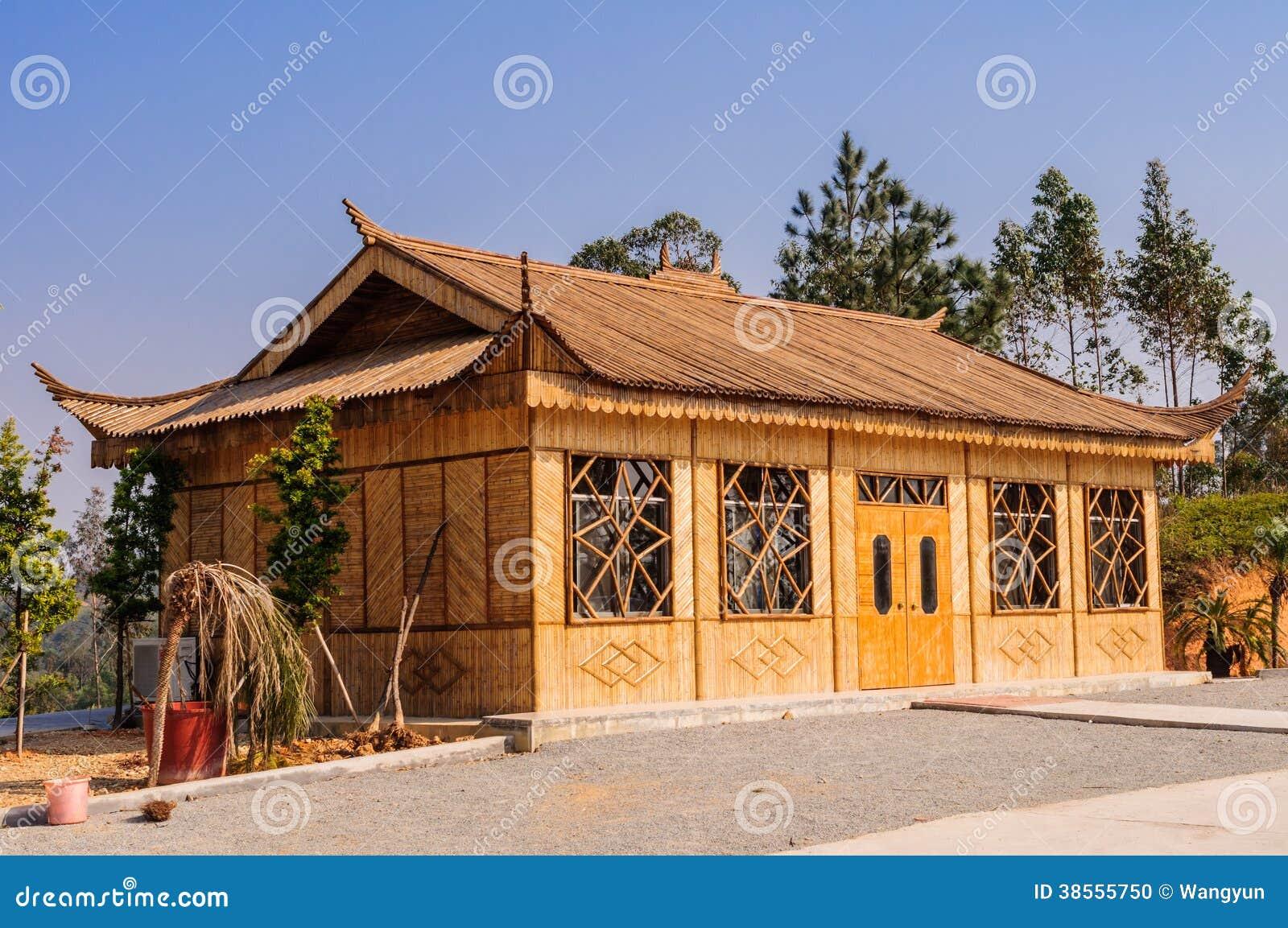 Bamboo house stock photo. Image of shadow, wild, fresh