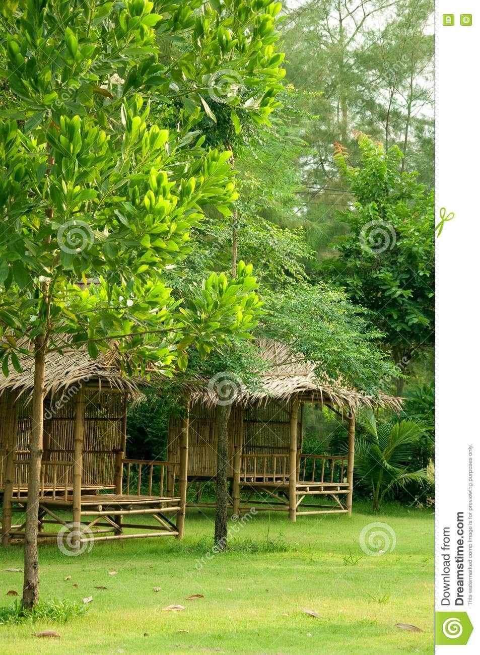 Bamboo hut in the garden stock image image 14209121 for Garden hut sale