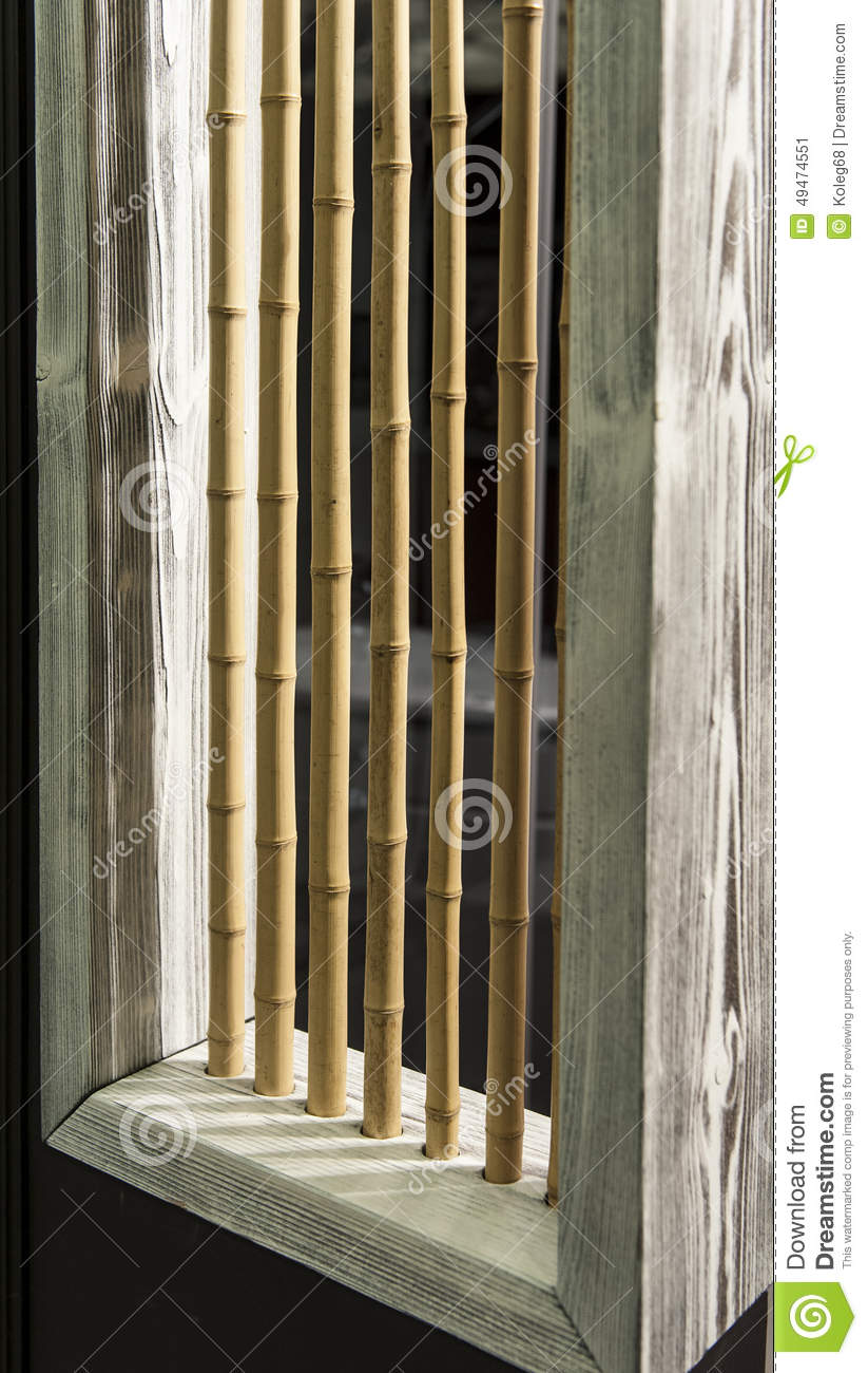 Bamboo Interior Design House Wooden Stock Photo Image 49474551