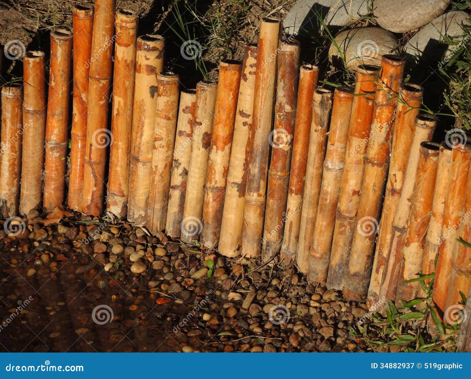 Wonderful Bamboo Japanese Fence. Royalty Free Stock Photography