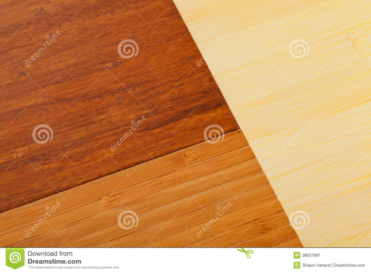 Different Light And Dark Colored Bamboo Laminate Flooring Samples