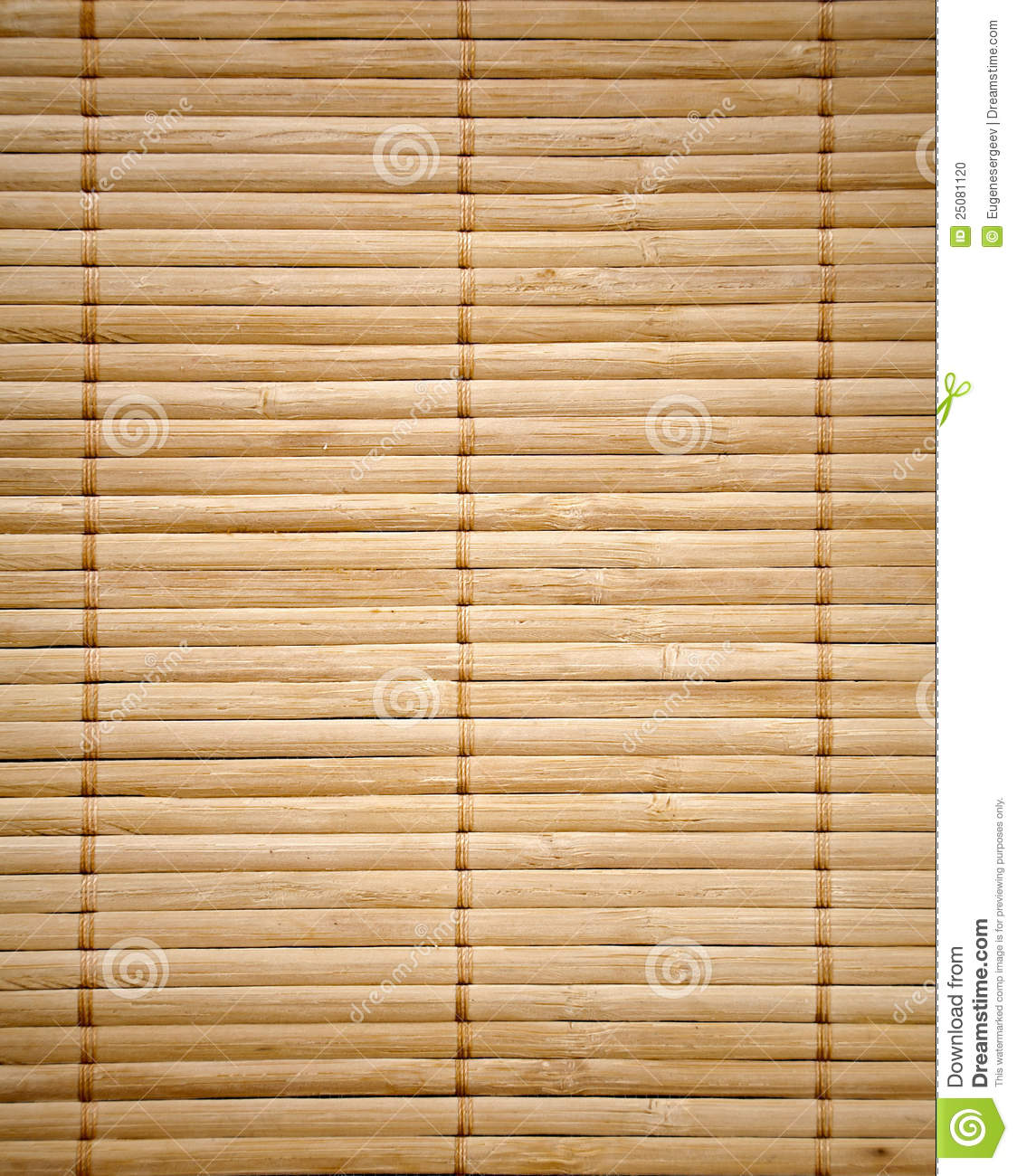 Bamboo Mat Texture Stock Photo Image 25081120