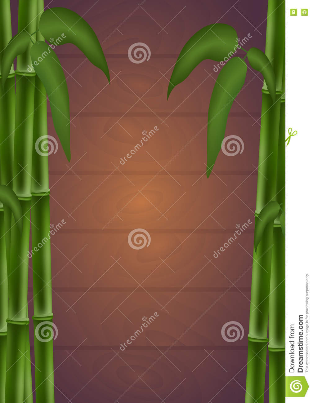 Bamboo Poster. Template For Design. Vector Illustration. Stock ...