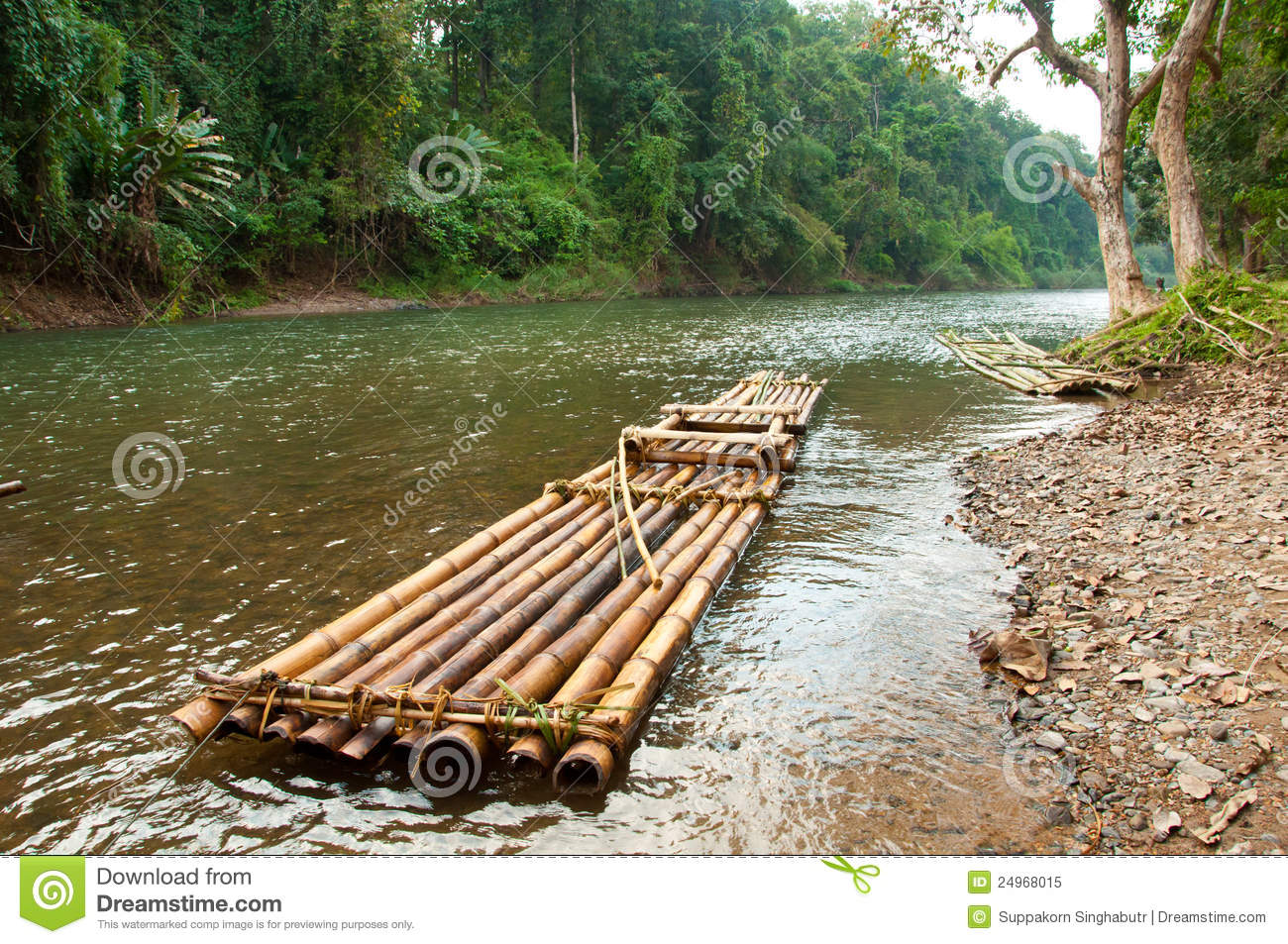... Raft Floating In River Royalty Free Stock Photo - Image: 24968015