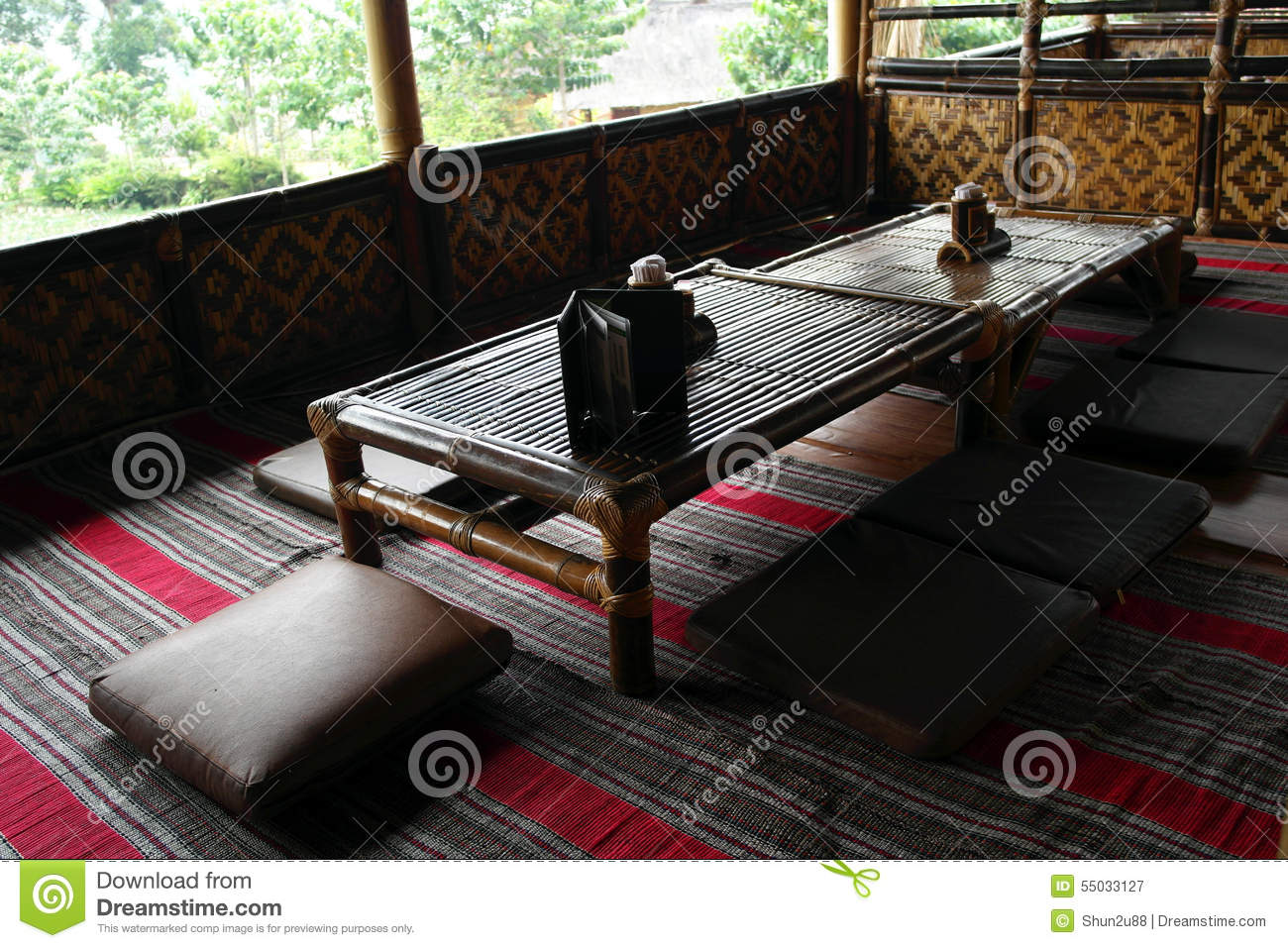 luxury restaurant interior stock photo - image: 54497824