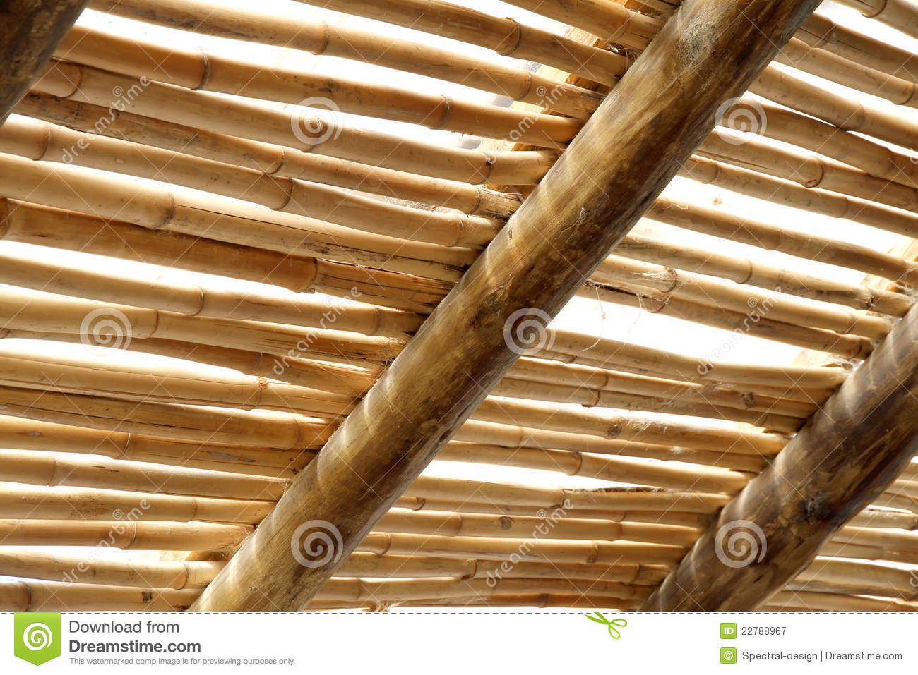 Bamboo roof royalty free stock photography image 22788967 for Bamboo roofing materials