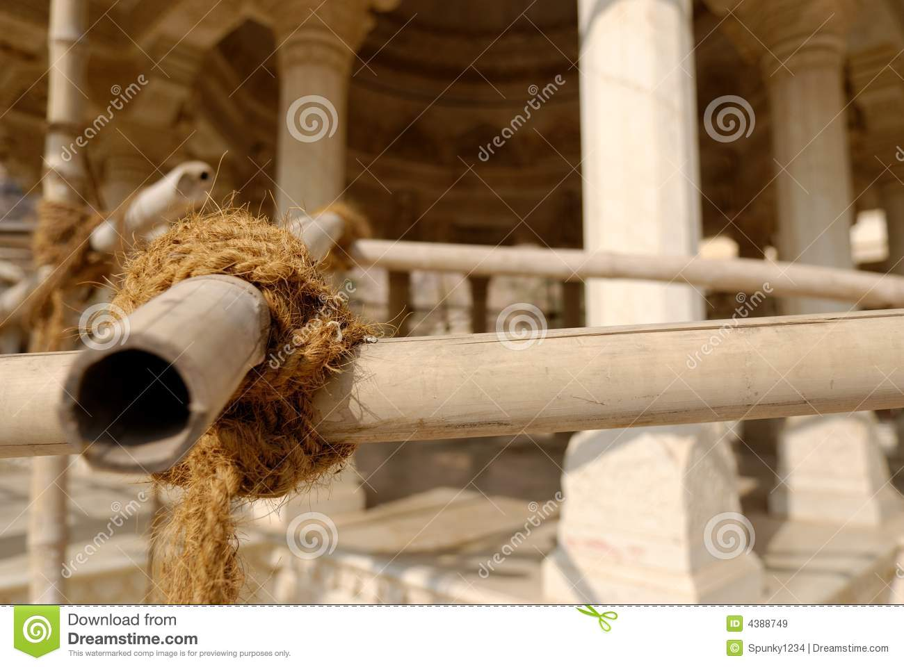 Bamboo Scaffolding Stock Image Image Of Structure Rope