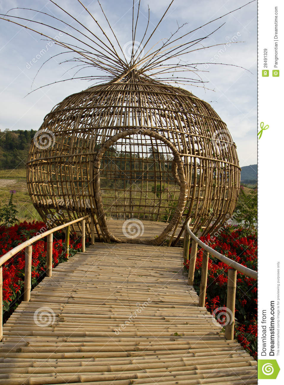 Bamboo sculpture stock image. Image of abstract, grunge ...