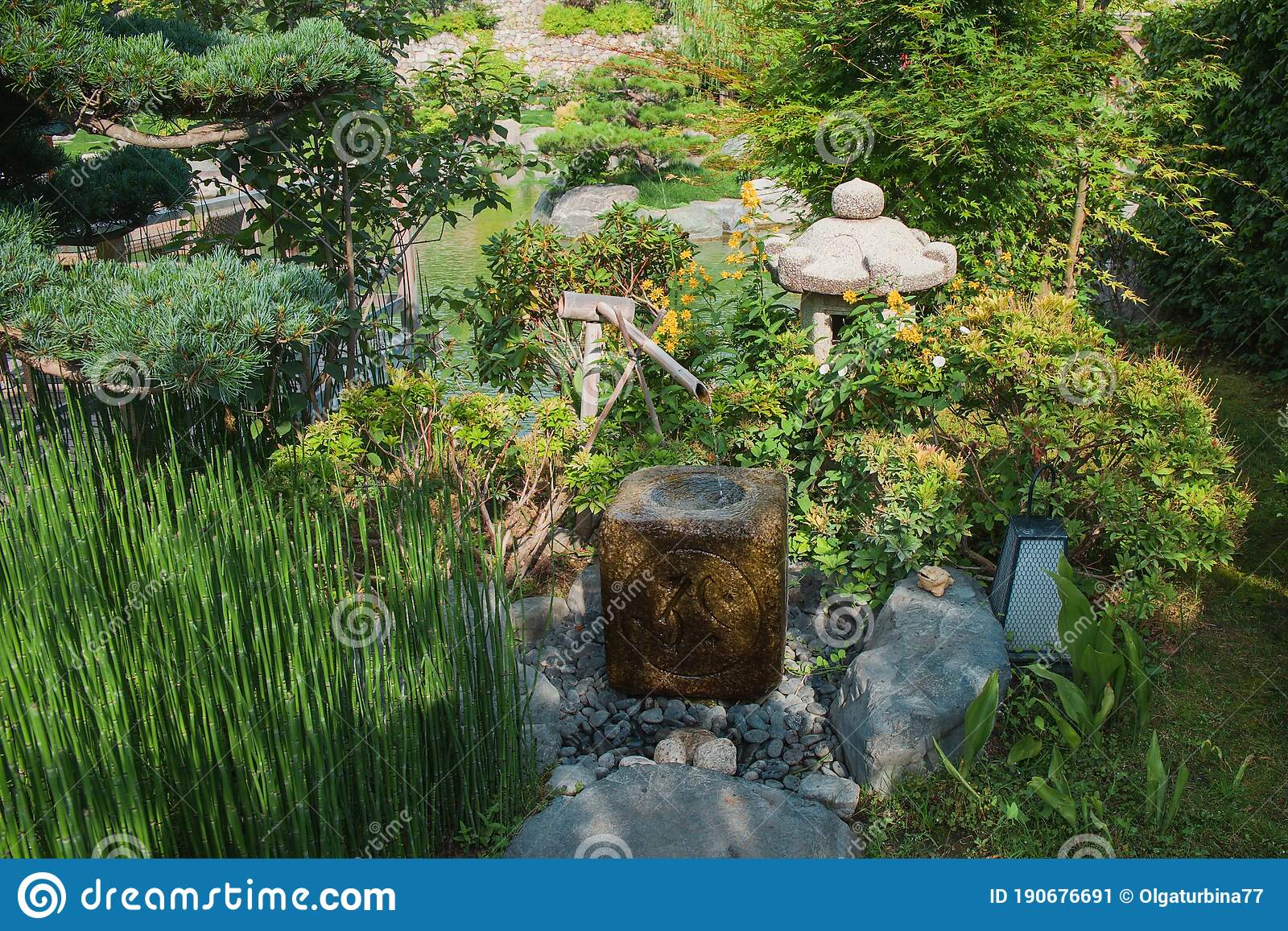 water fountain zen garden