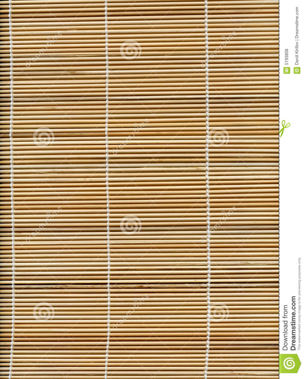 Bamboo Stick Straw Mat Texture Stock Photo Image Of