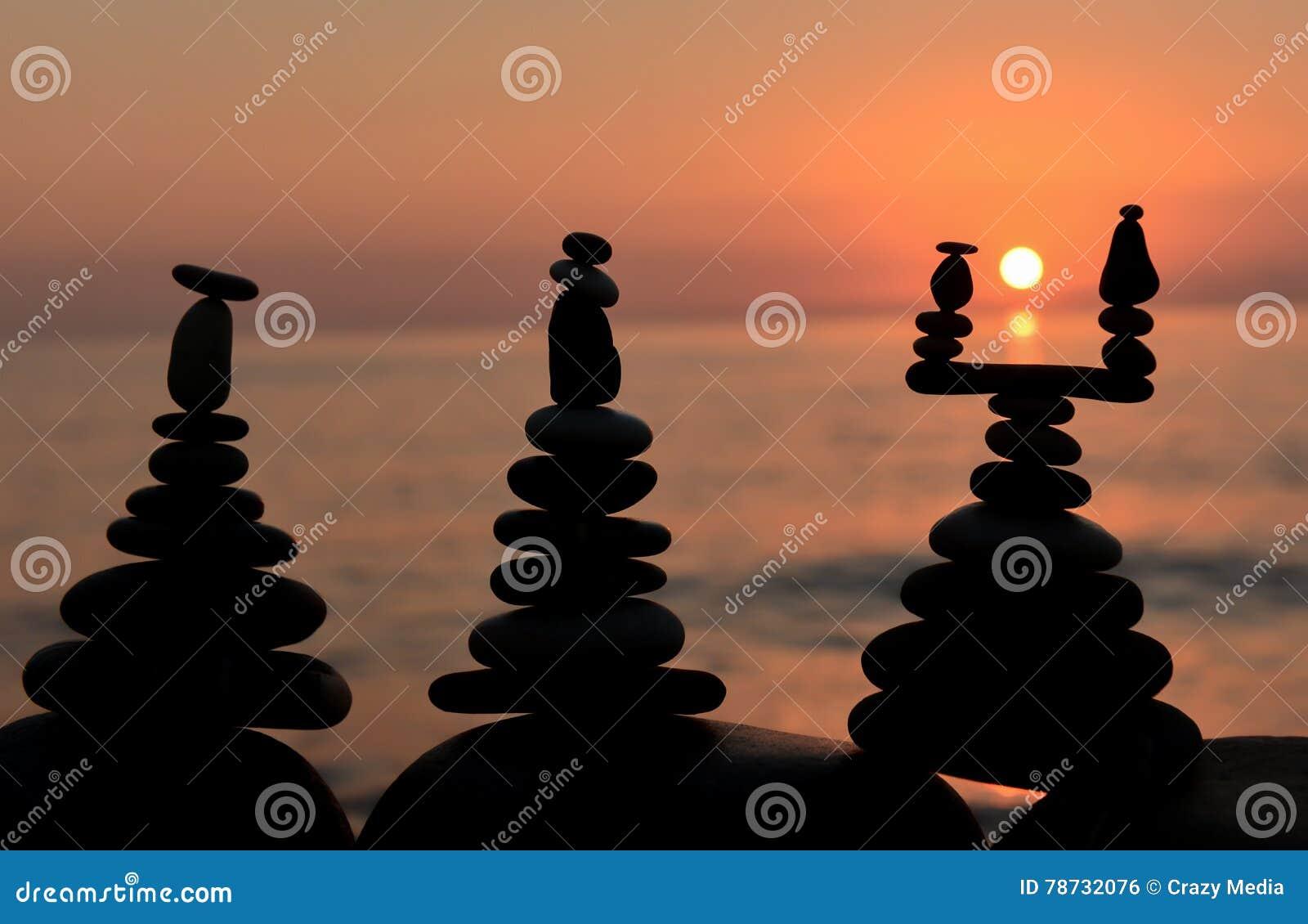 Bamboo stones zen