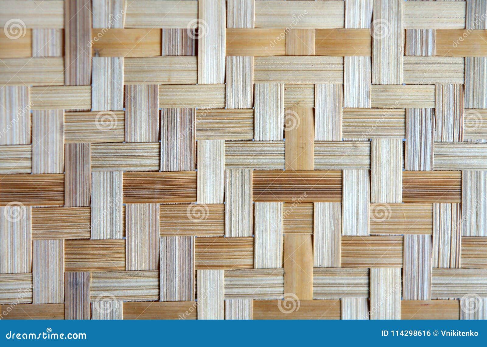 Bamboo Or Straw Weaving Stock Photo Image Of Basket 114298616
